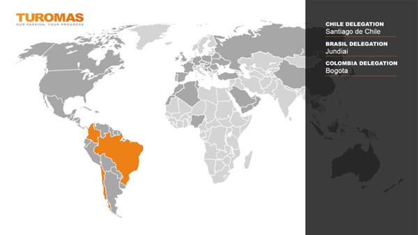 Turomas Colombia Mapa Delegaciones