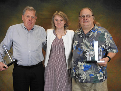 Glazing Outstanding Service Award – Mike Burk (Sparklike) and Randi Ernst (FDR Design