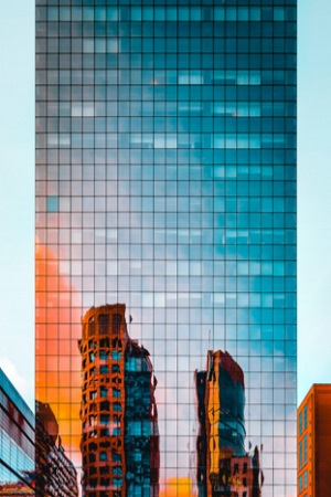 Glass Distortions in a Building
