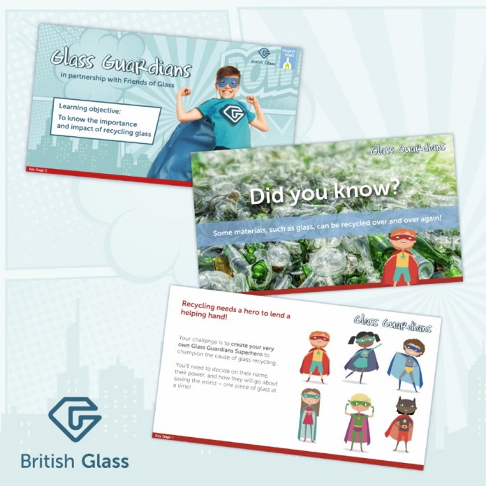 Popular schools recycling learning activity Glass Guardians relaunches