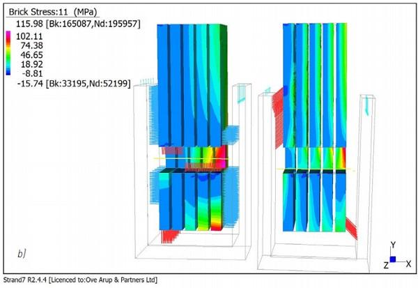 b) Bolted glass volumetric models
