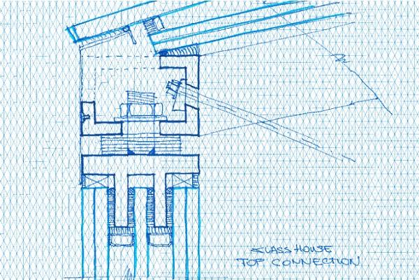 Figure 5 Conceptual detail of top connection