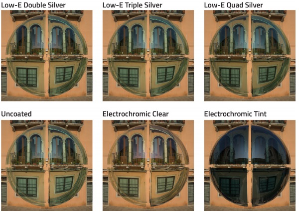 Figure 6 - Glass samples under clear sky