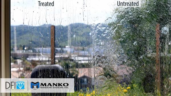 Diamon-Fusion treated vs. untreated window