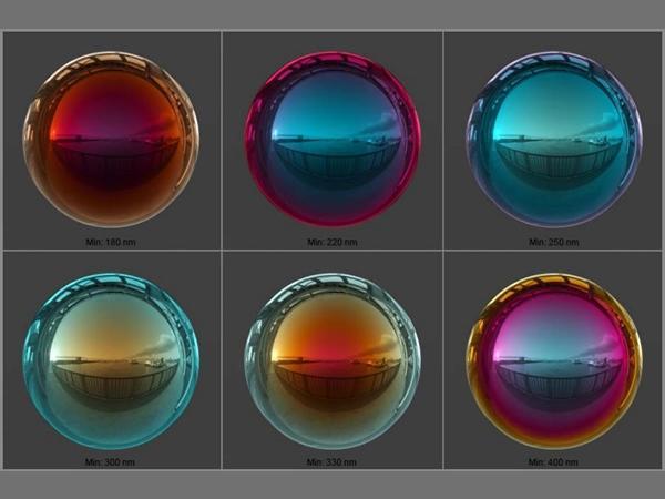 Physically Accurate Visual Representation of Advanced Glass Facades