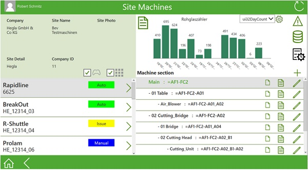 Image 3: Depending on the integration level and tasks, operators receive more information on current machine data, upcoming maintenance dates or key performance indicators – anywhere and at any time.